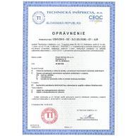 Oprávnenie TI 124/2006